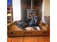Vintage wooden dog beds