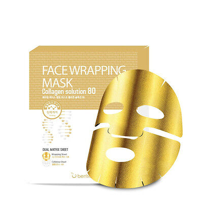 *Berrisom* (NEW) Face Mask Collagen wraps Solutions 80 (27gx5sheets)