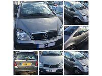 Mercedes A 140 2004 1.4 5 Dr Grey Manual Petrol (Front Bumper) all parts available