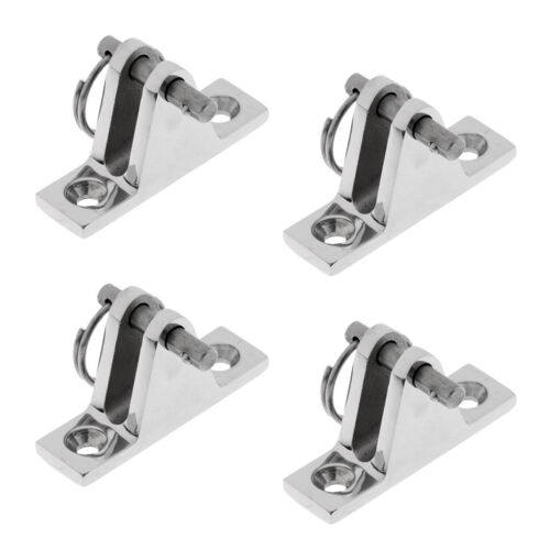 4x Quick Release Bimini Boat Top Deck Hinge Marine Grade 316 Stainless Steel
