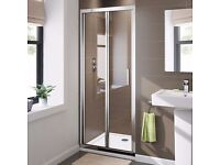 900mm Bifold 6mm Glass Shower Enclosure Reversible Folding Door