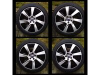 "Set of Genuine Volvo 31317607 17"" Used Alloy Wheels & Brand New Bridgestone Tyres ( 250miles ) £800"