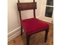 Antique carved reclaimed church/chapel chairs