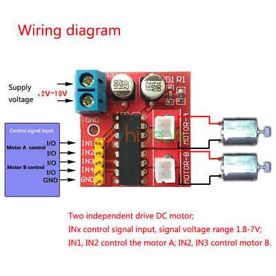 2.5a Durable Mini Dual Channel Dc Motor Driver Beyond L298n Pwm Speed Control