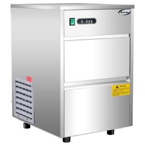 Automatic Ice Maker Stainless Steel 58lbs/24h Freestanding Commercial Home Use - FREE SHIPPING