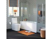 Luxury pivot bath shower screen 1000mm brand new