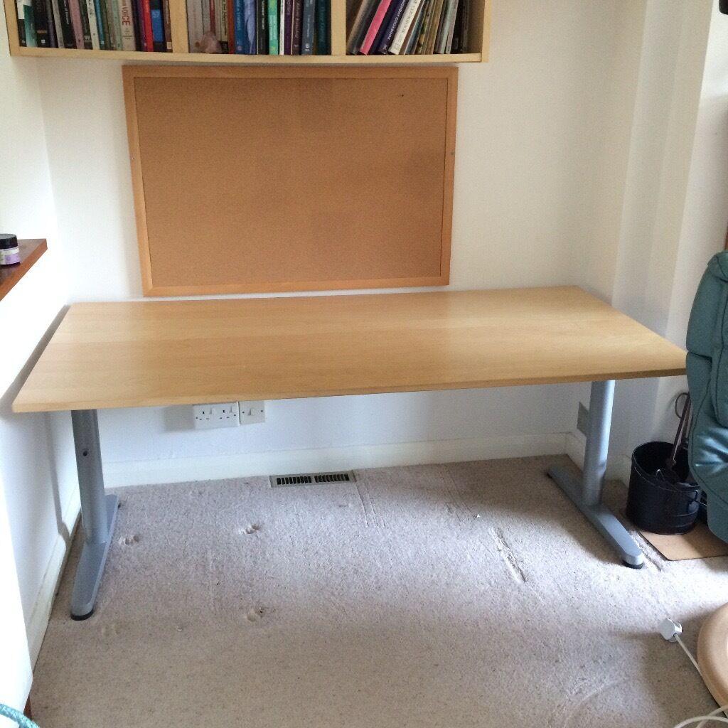 Ikea Galant Home Office Desk 160cm X 80cm Beech As New