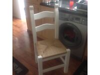 set of 4 chairs shabby chic perfect for up cycle, pine/beech ladder back