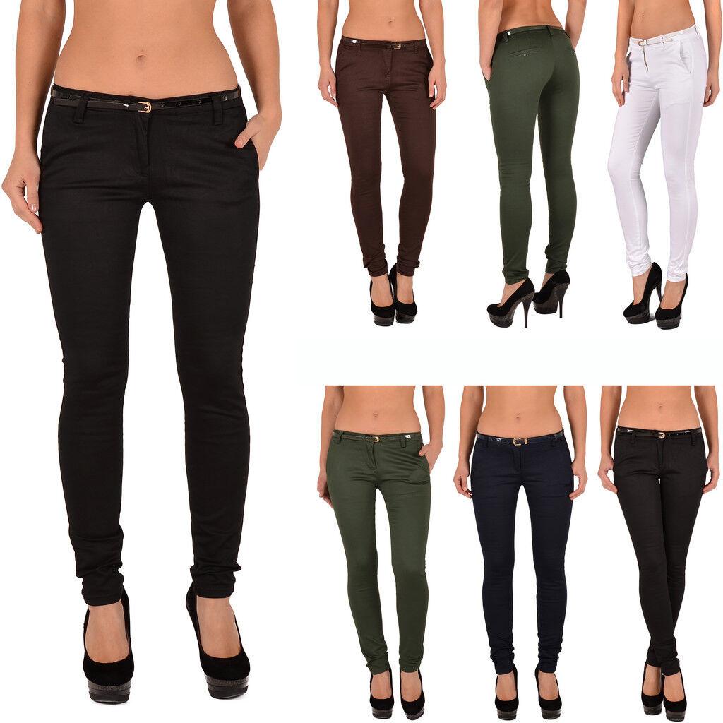 Damen Skinny Hose Damen Röhrenhose Hüfthose Skinny Hose für Damen J187