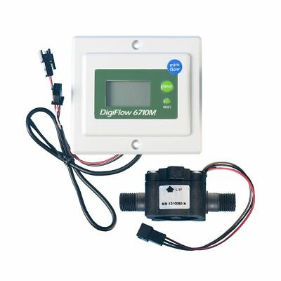 Digital Water Flow Meter 6710M-TM 0.8-8.0 lpm Panel Mounted for RO Systems