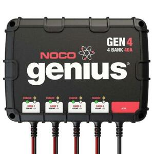 NOCO Genius GEN4 4-Bank 40-Amp Smart On-Board Waterproof Battery Charger