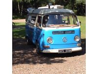 1973 VW Campervan, Bay Window, RHD, Westfalia, Tax Exempt