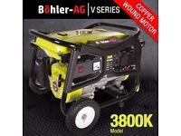 Generator 3000w, 3.8KVA 4 Stroke Petrol, UK Plug sockets, 8HP Great Spec WX3800K