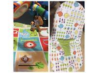 Baby play mat & bouncer chair