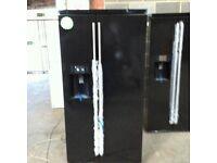 Brand New Black Gloss A+++ Class Frost Free RangeMaster American Fridge Freezer With Water Dispenser