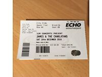 James and Charlatans ticket. Liverpool. 10 December