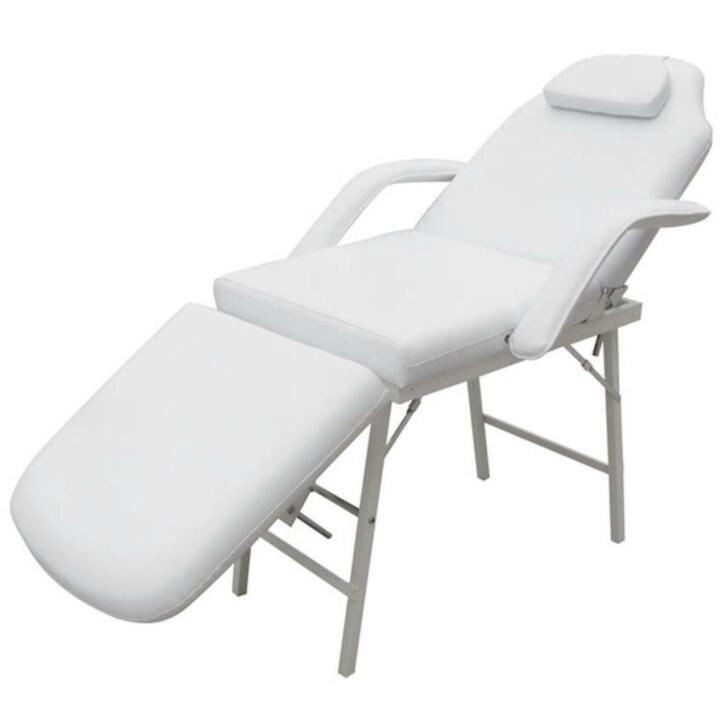 vidaXL Fauteuil de soins inclinable et pliant blanc crème