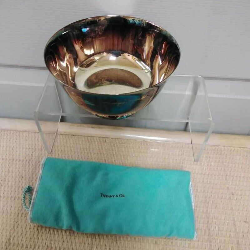 """VINTAGE 1994 TIFFANY & CO SILVER PLATED COMMEMORATIVE 7"""" BOWL"""