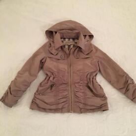 Burberry jacket with detachable hood