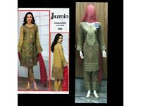 Pakistani Designers Inspired Embroidered Lawn Suit, Fully Stitched (JZ08).EID 2018 Sale