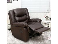 Seattle bonded leather recliner armchair in as new condition