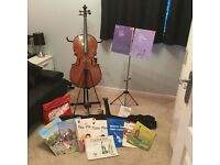 1/2 size cello complete bundle