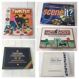 Christmas family party Games x5, twister trivial pursuit, scene it, monopoly
