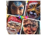 CHRISTMAS FACE PAINTING HIRE~PROFESSIONAL FACE PAINTER~LONDON