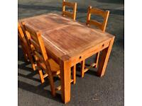 Large Four Seater Dining Table With Chairs