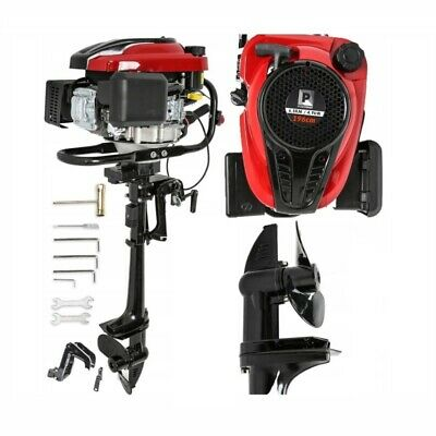 6.5 HP 4 STROKE OUTBOARD ENGINE 196cc MOTOR BOAT INFLATABLE ENGINE / VIDEO