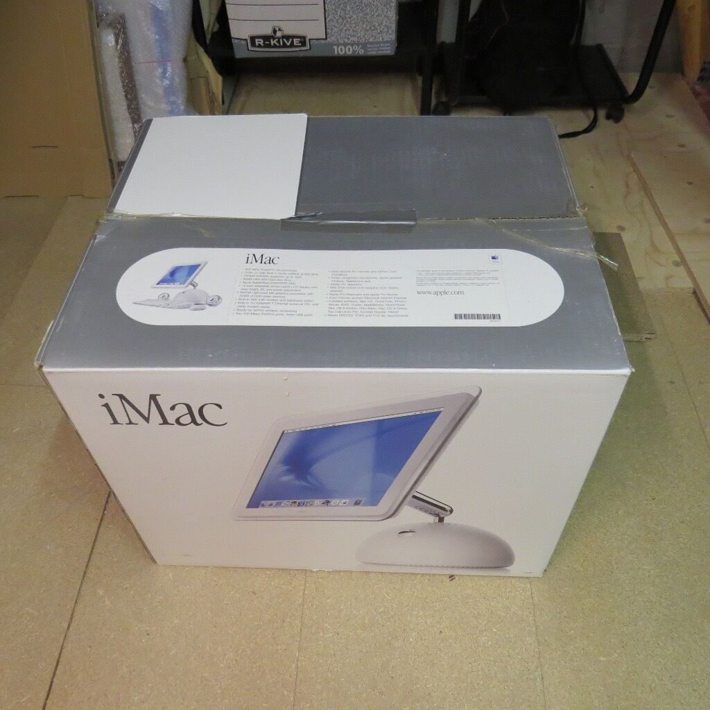Apple iMac Desktop Computer 800MHz Power PC G4 ProcessorFor Salein Verwood, DorsetGumtree - Sought after Apple iMac Desktop Computer 800MHz Power PC G4 Processor 256MB SDRAM, 60GB Ultra ATA Hard Drive, Apple Super Drive (DVD R/CD RW), standard Apple Keyboard & Mouse @£100 (All offers considered....Exclusive P&P.....viewing and pickup...