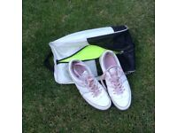 Ladies golf shoes and bag