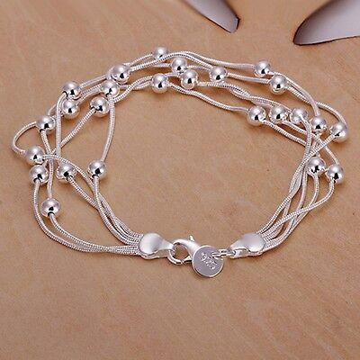 Women's Unisex 925 Sterling Silver Bracelet Size 7.5 Inches 12MM Lobster L21 925 Silver Lobster Bracelet