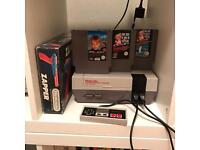 Nintendo NES with boxed Zapper 2 controllers all cables fully tested