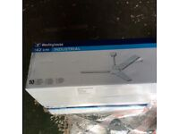 """3 NEW IN BOX WESTINGHOUSE CEILING FANS 56"""" (142cms) £50 each or best offer"""