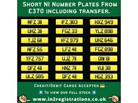 Short NI Number Plates from £370 - Cherished Personal Private Registration plates-Car,Van,Motorhome)