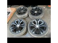 "22"" alloy wheels alloys rims tyres range Land Rover BMW X5 x6 5x120 2853522"