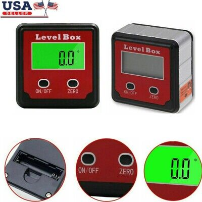Digital Bevel Box Gauge Lcd Backlight Angle Finder Meter Protractor Inclinometer