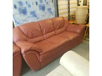 BARGAIN Sofas 3+ 2 seater leather