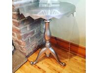Silver metal chrome side nest of table hall living room shabby solid tall lamp
