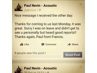 Solo Acoustic Guitarist/Singer