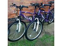 2 ladys teenagers bikes