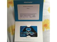 £50 ticket master gift card