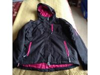 Women's size 8 ski jacket and salopettes