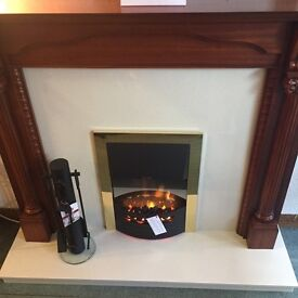 FULL FIREPLACE SUITE WITH ELECTRIC FIRE
