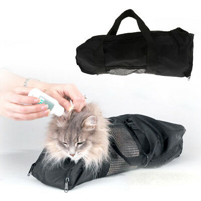 Dog Cat Grooming Restraint Nail Clipping Cleaning Grooming Soft Mesh Bag