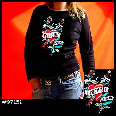* Tattoo Flash Rockabilly Damen Girl Shirt OldSchool Motiv *7151 LS
