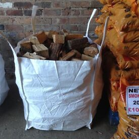 Kiln dried ash hardwood logs dumpy bag only £65 inc free local delivery call 0161 962 9127