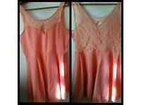 New without tag coral playsuit