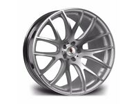 "Silver Polished x4 18"" Stuttgart St3 Alloy Wheels 8.5 Bmw 1 2 3 Series"